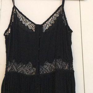 Top shop black mini dress with lace cut out
